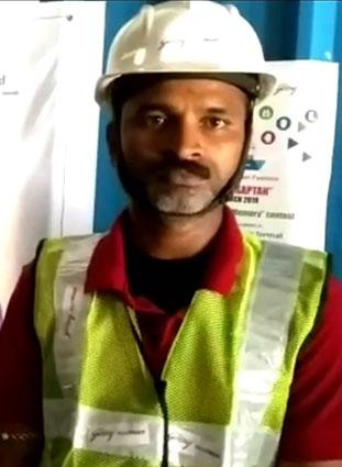 Forklift operator speaking about Godrej RenTRUST