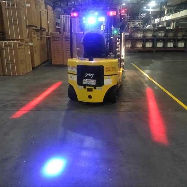 Godrej Forklift blue safety light
