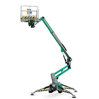 Articulated boom equipment on rent