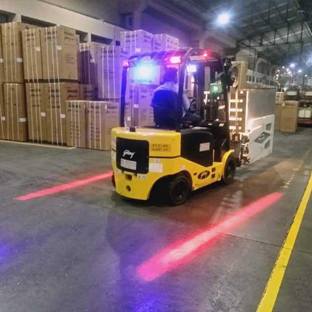 Godrej Forklift red safety light