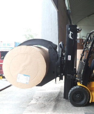 Forklift attachment and fleet management solution with safety accessories